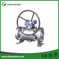 API 6D forged trunnion mounted ball valve gear operated with price