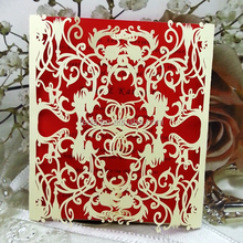 Chinese style Laser Cutting, Wedding Invitations Cards