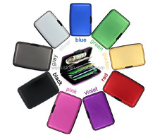 Aluminum Card Wallet Protect From RFID Scanning Card Holder Wallet