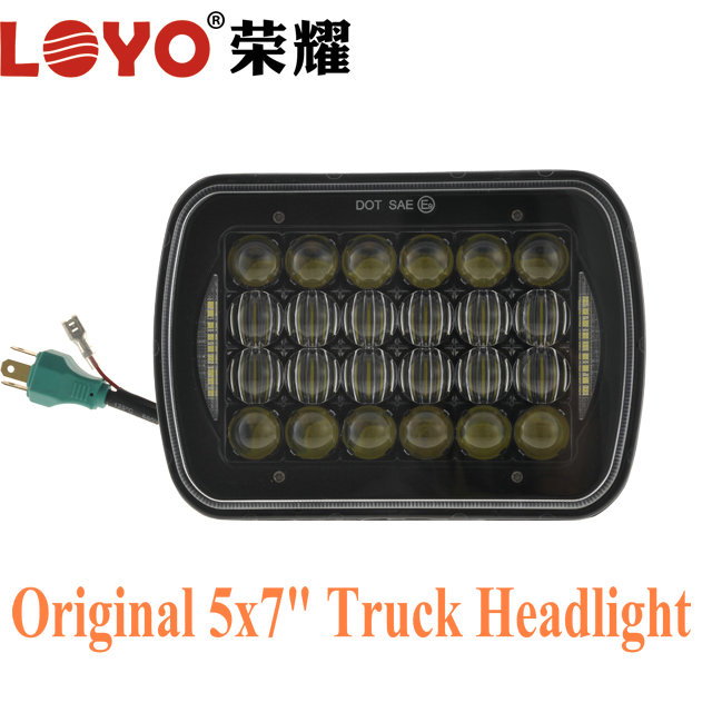 7x6 5x7 square jeep headlight hi/lo 7 inch led head light for trucks