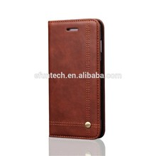 Ultra slim retro wallet pouch PU leather flip mobile phone case for iphone 6s plus