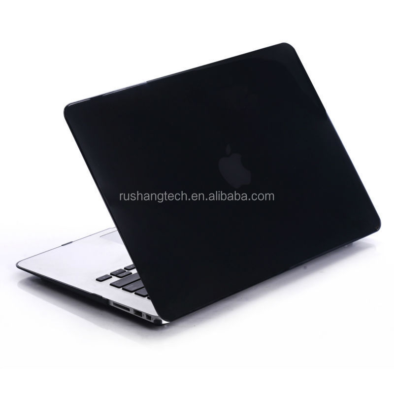 Black Ultra Slim Rubberized Hard Case Matte Cover For MacBook Air 13.3