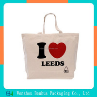 Organic Natural Shopping Cotton Tote Bags Wholesale