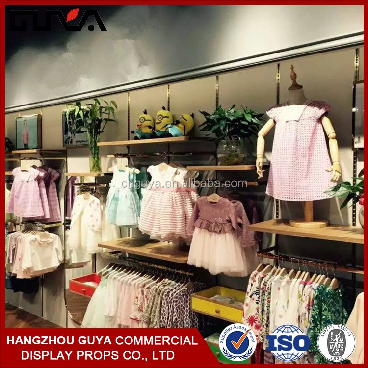 Kids clothing stores baby clothes display showcase stand