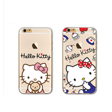 OEM and ODM CUTE and new style TPU cartoon hello kitty pattern 3d relief phone case for iphone 7 7plus apple