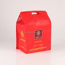 custom order promotional red pp non woven wine bag