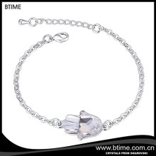Simple charm hand shaped chain braclets Crystals From Swarovski
