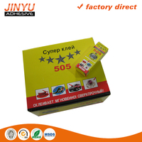 Jinyu factory price wholesale strong adhesive high viscosity quick dry plastic bottle 5g super glue 505