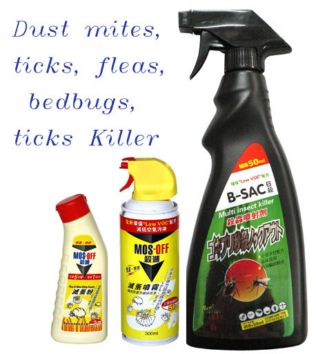 Dust mites, ticks, fleas, bedbugs, ticks Killer