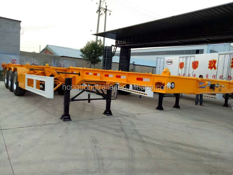 2016 China manufacturer transporting container trailer chassis