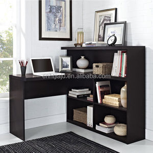 High quality work well executive wooden home office desk furniture with bookshelf