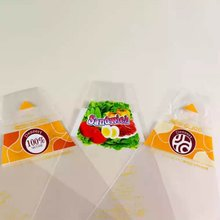 food grade OEM transparent custom printing plastic cone triangle sandwich packaging bag