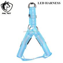 Hot Sale Customize Color Nylon Safety Metal Chain LED Dog Harness