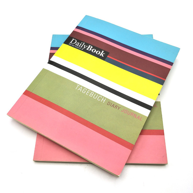 Cheap bulk custom full color paper cover dairy journal printing