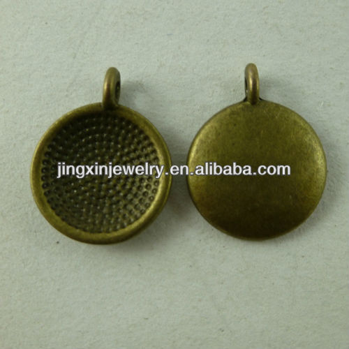 Yi Wu Wholesale Pan Shaped Spot Drill Antique Metal Charms