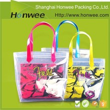 eco friendly large plastic polyester cute tote bag for school girl