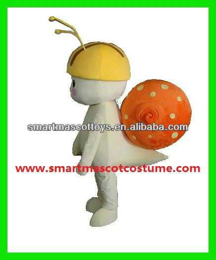 Factory direct sale lovely snail mascot costume adult snail costume