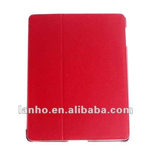 PU Leather Smart Case Magnetic Cover Foldable Stand for Apple iPad 2/3 New iPad Red