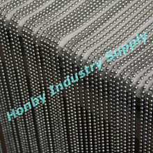 Well Assembled Customized 6mm Silver Metal Beads Salon Decorating Curtain