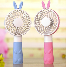 Rechargeable mini usb Cartoon Hand-held Electric Fan