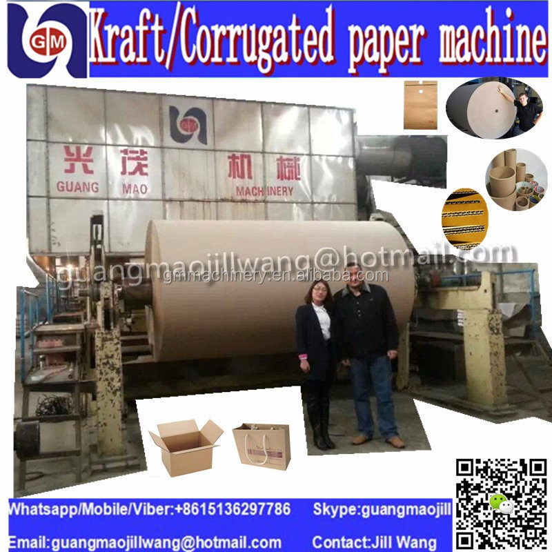 Corrugated carton paper manufacturing machinery Kraft paper production line