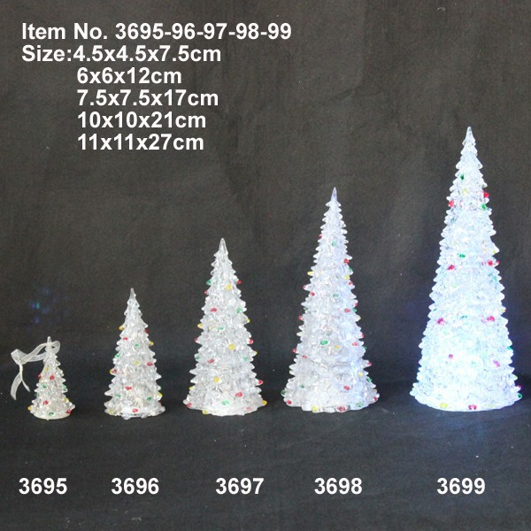 Wholesale various size colorful Christmas decoration tree , acrylic Christmas tree light
