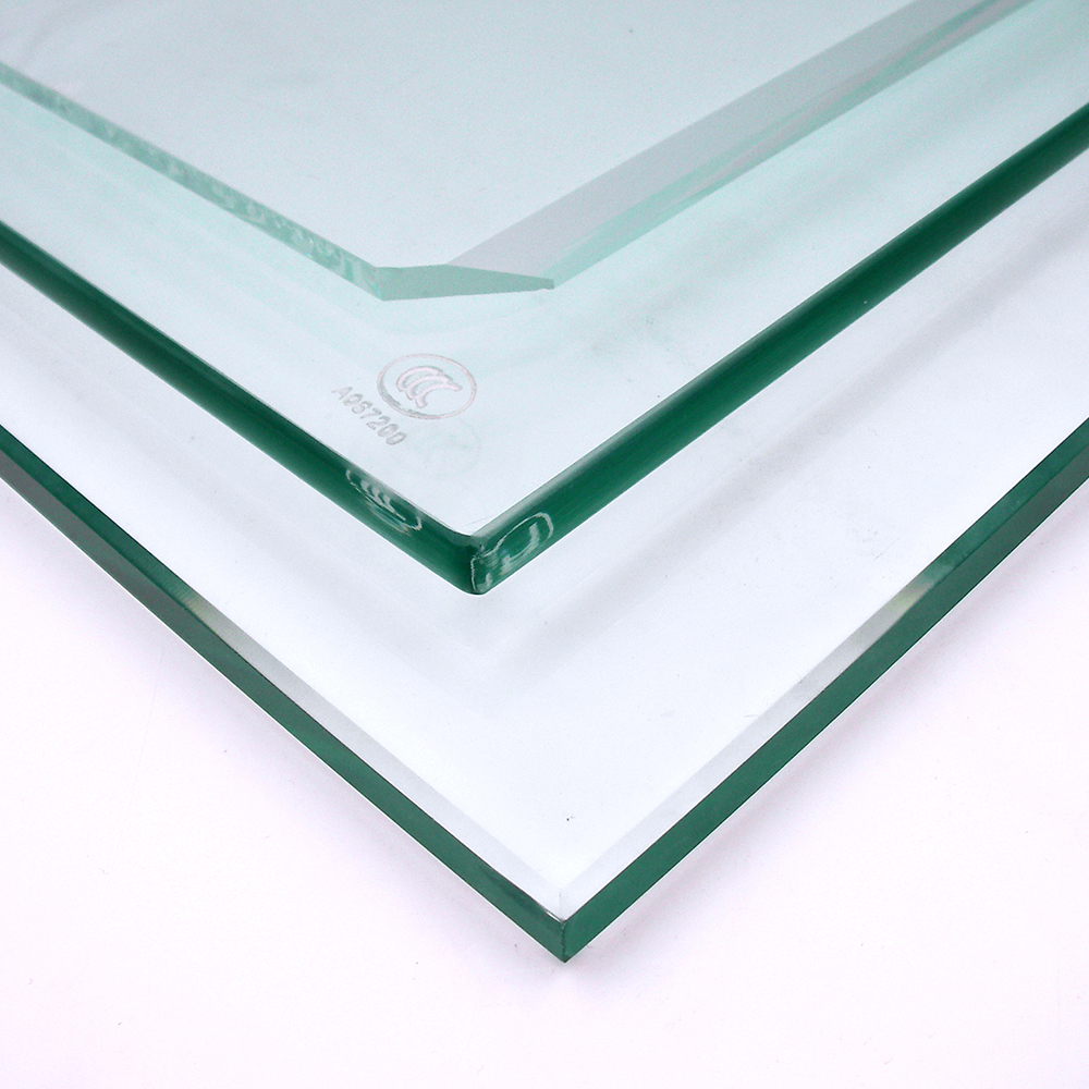 12mm Clear tempered glass for deck panels