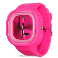New style silicone watch interchange strap and face