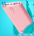Fashionable stylish portable 20000mAh power bank with beautiful color