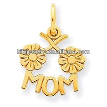 graceful font size of mom with two flowers charm