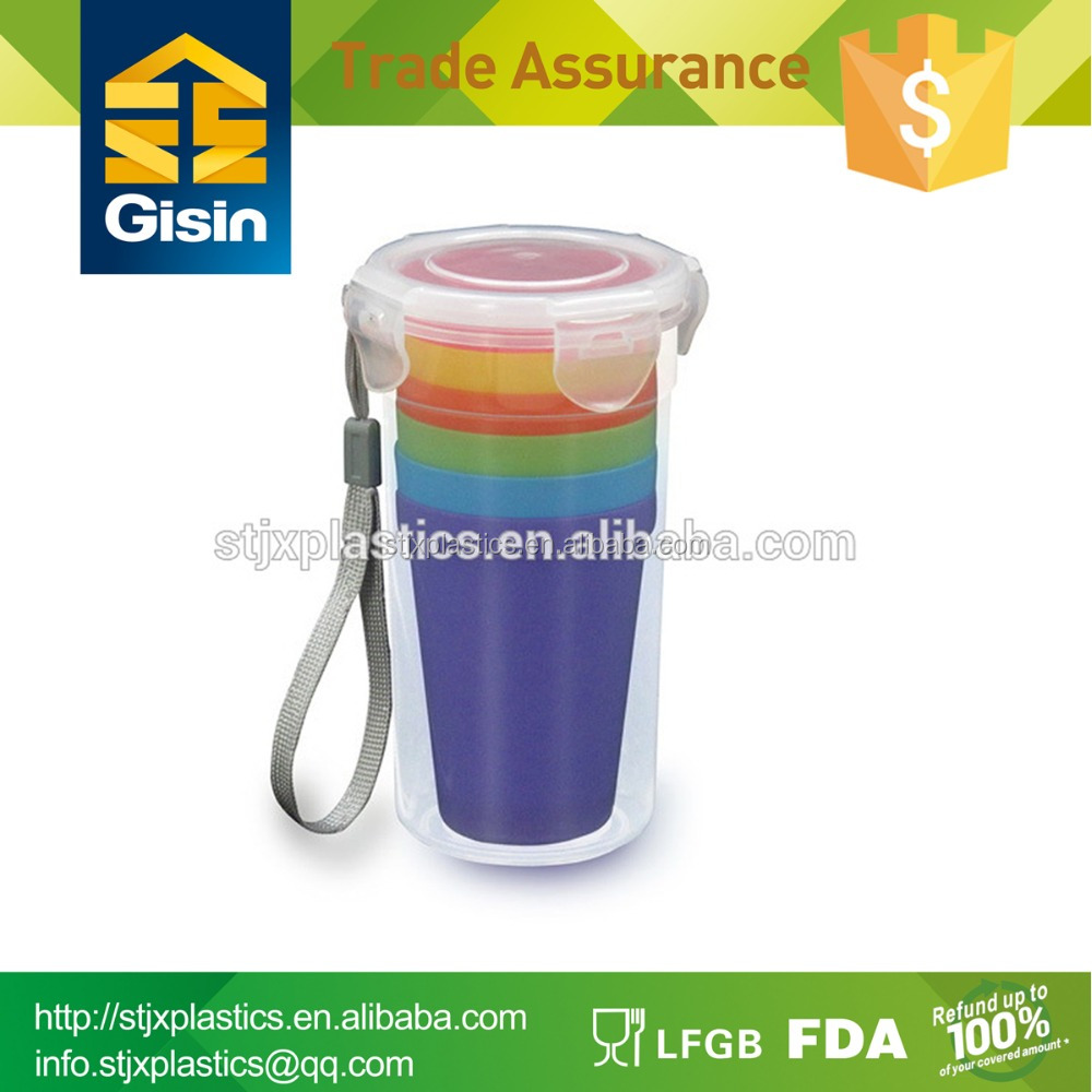 Colorful plastic tea cup set prices
