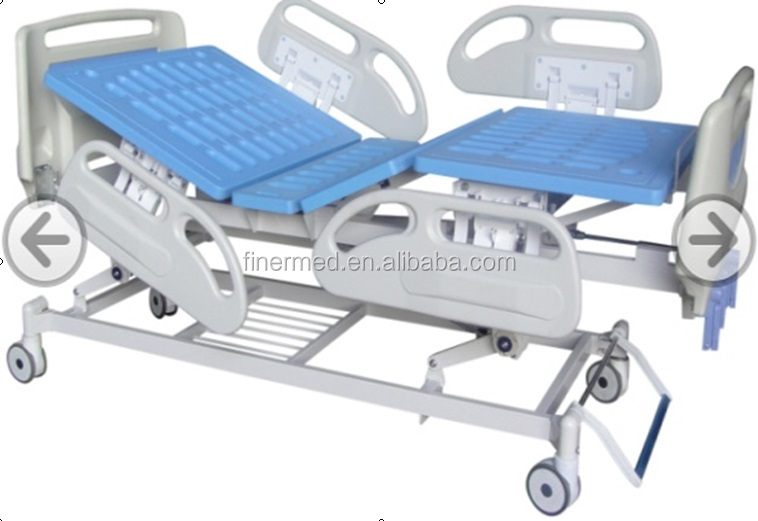 3 function deluxe hospital medical Manual Bed with shoe holder