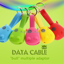 Soft silicone easy carry multiple usb data cable for smart mobile, notebook