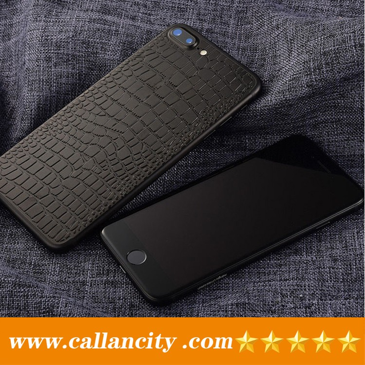 Accessories phone mobile custom metal phone case crocodile skin housing for iphone 7