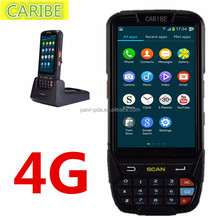 CARIBE PL-40L Touch screen handheld Android barcode scanner,PDA wireless with NFC and 4G