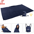 3 in 1 Waterproof Outdoor Stadium Rain Poncho Blanket, Wearable Picnic Mat For Camping Stadium Travel Beach