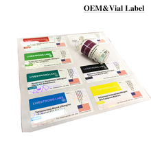 easy peel off medical bottle label sticker custom hat stickers for Anabolic Steroids