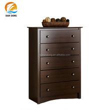 Classic black walnut wooden chest of drawers/ wood cabinet cheap furnitures sale