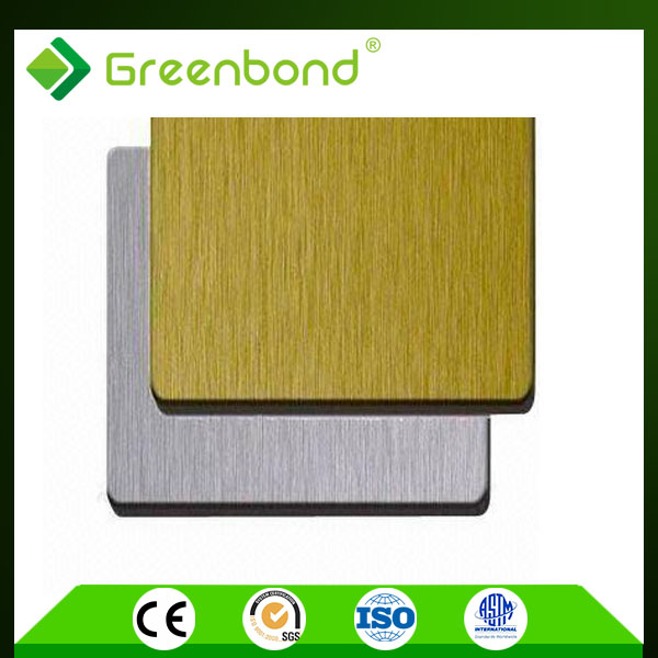 Greenbond pop around the world brushed acp waterproof aluminum composite acm acp panel decoration