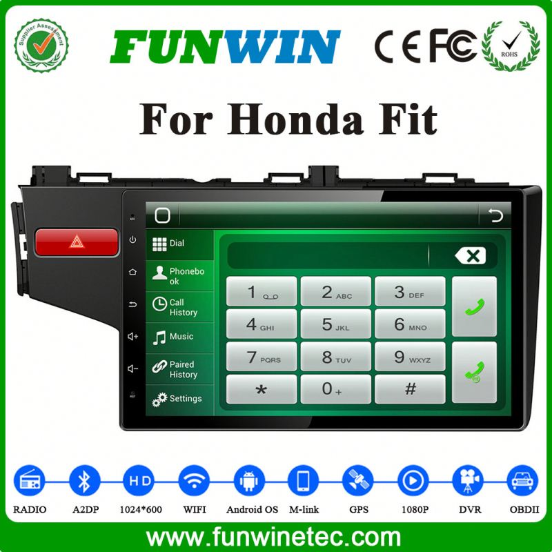 Funwin Car GPS Navigator For Honda New Fit Car Dvd Player With Reversing Camera