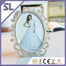 Picture Frames Wholesale Elegant Cobalt Blue Crystal Picture Frame for Wedding Decoration Made in China