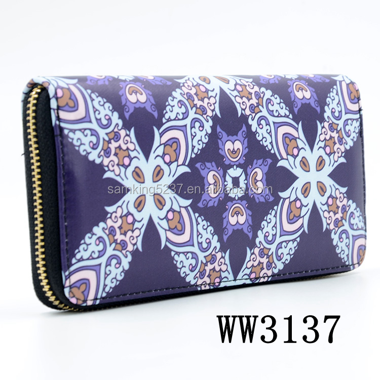 Latest Design Women Denim Japanese leather Wallt For Promotional Gifts
