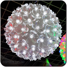 Hanging LED decorative artificial flower ball
