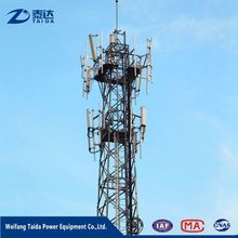 GSM Telecommunication Steel Monopole Tower