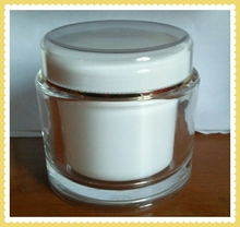 200g empty round face mask jar skin whitening acrylic cream jar cosmetic container jars