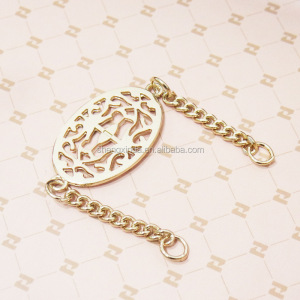Wholesale Custom Cute Logo Decoration Metal Chain Gold Tags for Handbag