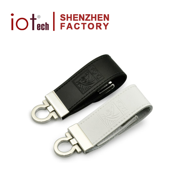 High Quality 16gb Black Leather Case 2 tb USB Flash Drive