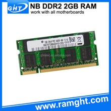 Retail and online 128mbx8 ddr2 2gb notebook ram memory