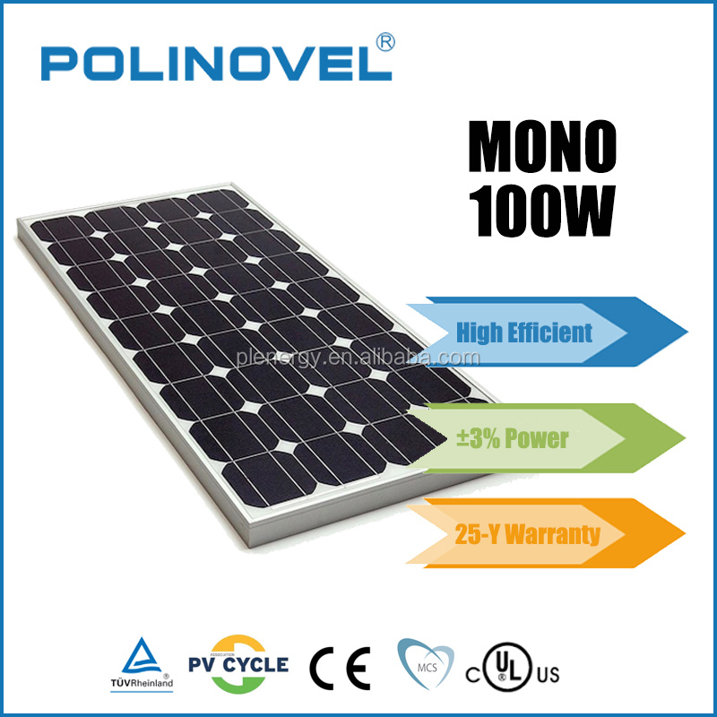 OEM high quality mono poly 100w 18v solar panel