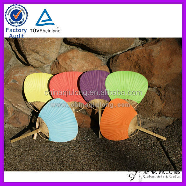 Art Craft Bamboo Products Custom Paper Paddle Fans